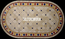 4'x2' White Marble Center Dining Table Top Inlay Christmas Garden Home Decorate