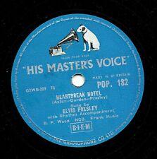 CLASSIC ELVIS PRESLEY 78  HEARTBREAK HOTEL / I WAS THE ONE  UK HMV POP 182 V+