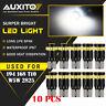 10X 194 168 W5W 2825 License Plate Light Interior Wedge Bulb CANBUS LED White EA