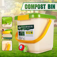 12L Recycle Composter Aerated Compost Bin Bokashi Bucket Food Waste Kitchen  US
