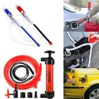 Car Vehicle Liquid Transfer Fuel Pipe Suction Pump Electric Manual Extractor Oil