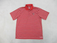 Tampa Bay Buccaneers Polo Shirt Adult Medium Red NFL Football Majestic Mens