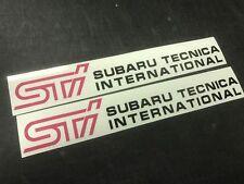 2PCS STi Subaru Tecnica International  Sticker Vinyl Decal Sticker WRX STi JDM