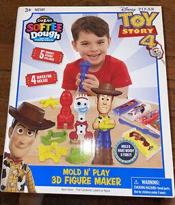 DISNEY TOY STORY 4 Mold Play 3D Figure Maker Fun Create Softee Dough Cra Z Art