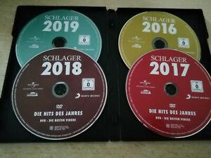 dvd sammlung Schlager Die Hits Des Jahres 2016-17-18-19 Musik Videos