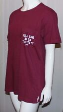 Victoria Secret PINK Maroon Will This Be On The Test Campus Pocket T-Shirt/Tee M