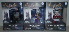 Vinimates Arkham Asylum Lot of 3 Batman Joker Harley Quinn Diamond Select DC
