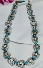 Vintage Estate Silver Aquamarine High End Designer Necklace Bogoff?