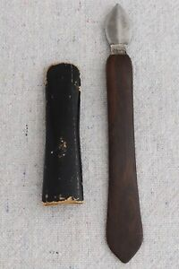 Antique Krusius Brothers KB Extra Quill Pen Sharpening Knife Ink Scraper Eraser