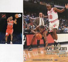 2-allen iverson 76ers lot 1996/97 z force 10 zensations 1997/98 hoops poster 21