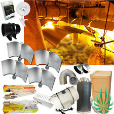 "Hydroponics 4x600W HPS/MH Grow Tent Lights 8"" 2 Speed Ventilation Fan Filter Kit"