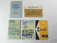 Chevrolet 1953 1959 1974 1988 Chevy Owners Operators Manual Guide Lot of 5