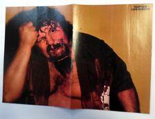CAPTAIN LOU ALBANO Autographed MAGAZINE POSTER WWF Wrestler LEGEND Lauper PC905