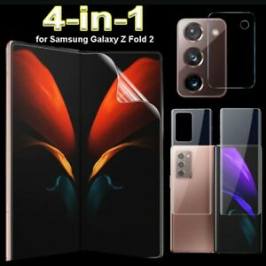 For Samsung Galaxy Z Fold 2 5G, 4 in 1 Full Cover Hydrogel Soft Screen Protector