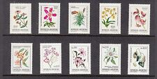 Argentina 1982  Flowers   Mint unhinged selection 10 stamps. Look!!