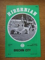 02/09/1978 Hibernian v Brechin City [Scottish League Cup] (Faint Crease)