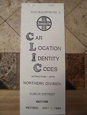 SANTA FE NORTHERN DIVISION-DUBLIN DISTRICT CLIC BOOK 39 pgs 1985-REPRINT!