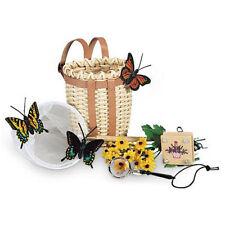 American Girl Samantha's Nature Paraphernalia Set - Basket, Butterflies, Flowers