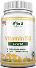Vitamin D3 365 Softgels 1,000iu Years Supply of 1000IU Vitamin D High Absorption
