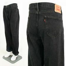 Mens Vintage Levi'S 505 Black Denim Jeans Dad Straight Leg Levis Levi W38 L30