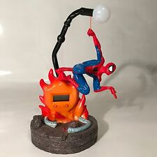 Marvel Spider-Man Collectors Clock Digital TEK Time 2003 Lights Decoration Rare