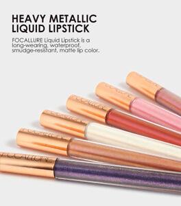 FOCALLURE Heavy Metallic Liquid Lipstick Lip Gloss Makeup