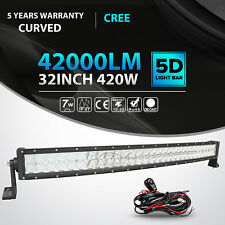 "5D 32""Inch 420W Curved Cree Led Light Bar Spot Flood Offroad 4WD Truck Jeep 36"""