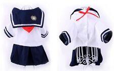 Dog Navy Cotton Jumper Dress Up Costume Chihuahua Pomeranian Pug Shih Tzu
