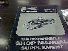 Kawasaki Snowmobile Shop Manual Supplement INTRUDER ST440-A4A