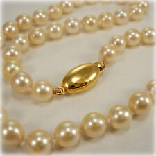 "Single Row 16.5"" Cultured Pearl Necklace"