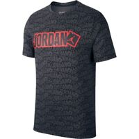 Nike Men's Air Jordan Aop T-Shirt Black/Gray/Gym Red CD5604-010 Size Small