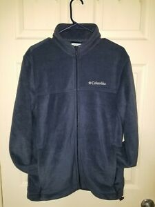 Mens columbia fleece jacket medium Navy