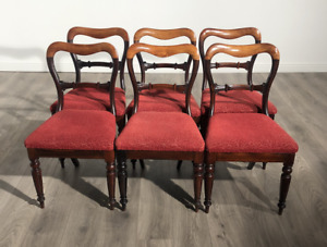 Magnificent Set Of 6 Victorian Rosewood Dining Chairs Circa 1840