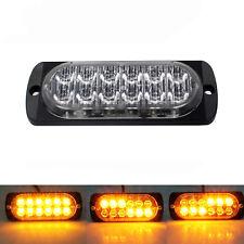 36WAmber Car Truck 12-LED Flash Emergency Hazard Warning Strobe Light Bar 12/24v