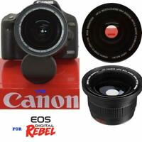 WIDE ANGLE FISHEYE LENS FOR Canon DSLR W EF-S 18-55mm f/3.5-5.6 IS II Zoom Lens
