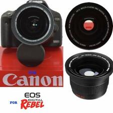 FISHEYE LENS FOR CANON SL2 SL3 T5 T6 T3 WITH EF-S 18-55mm f/3.5-5.6 IS II Lens