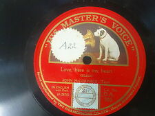 78rpm JOHN McCORMACK love here is my heart / a little love a little kiss