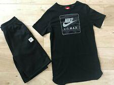 BOYS Black NIKE AIR MAX SHORTS & T-SHIRT Set (age13-15) *GREAT COND*
