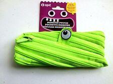 Zip-It Neon Green/Yellow Monster Pouch Pencil Case