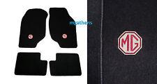MG ZR MGZR ROVER 25 set BLACK LHD car mats badge logo NEW
