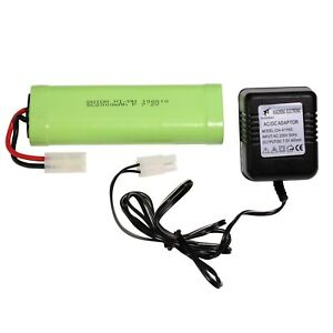 7,2V 2000mAha Akku Batterie + Ladegerät 400mAh 7,2V - SET  für RC Modelle - R