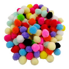 100pcs Soft Cat Toy Balls Kitten Toys Pompon Ball Assorted Color