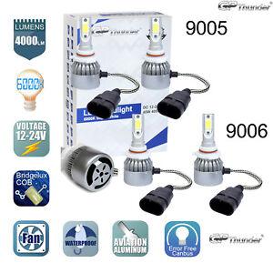 9005+9006 Combo 160W 16000LM CREE LED Headlight Kit High & Low Beam Light Bulbs