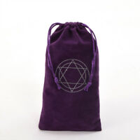 Hexagram Purple Velvet Tarot Pouch Bag Star of David Tarot Cards Drawstring Bag