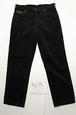 Wrangler texas velluto nero accorciato usato (Cod.Y678) Tg.47 W33 L36 jeans