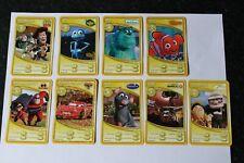 Morrisons Disney 9 Trading Card Complete Set K Pixar 2 Sparkle Cards Toy Story