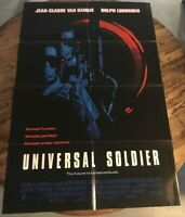 "UNIVERSAL SOLDIER 1992 folded Double-Sided onesheet Movie Poster 27""x40"""
