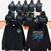 KPOP Straykids Sweater I Am YOU Concert KIM WOO JIN Zipper Coat Cap Hoodie