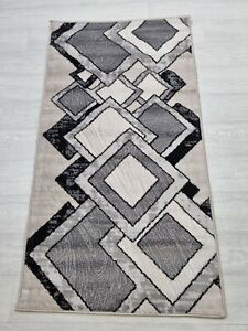 Quality Rug GREY BEIGE 80 x 150 cm Soft Touch Living Room Turkish Carpet Rugs