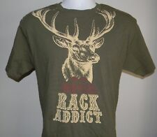 MEN'S TWIN PEAKS RACK ADDICT T SHIRT MEDIUM BUCK RESTAURANT GREEN